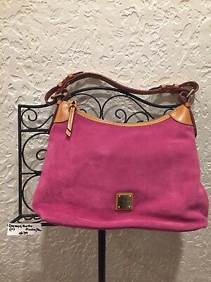 f6f3df4a7c08 DOONEY   BOURKE hot pink suede leather shoulder hand bag -  110.00 ...