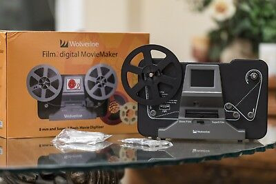 Wolverine Film 2 Digital MovieMaker 8mm and Super8 Reels Movie Digitizer Capture