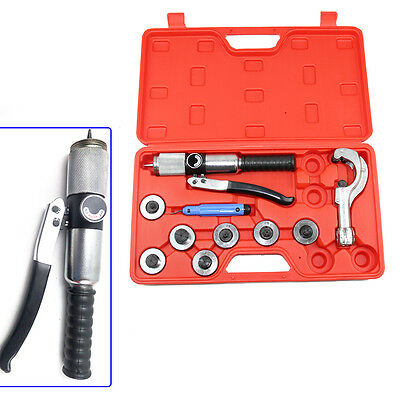 Hydraulic Tube Expander 7 Lever Tubing Expanding Tool Swaging Kit Tools Red Box