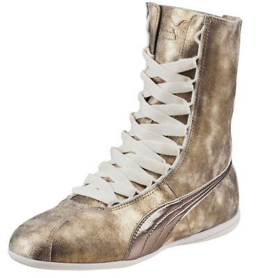 Puma Womens Eskiva Hi Metallic Trainers Gold