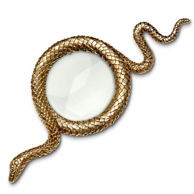 NEW L'objet Snake Small Gold Magnifying Glass
