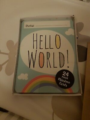 NEW Baby milestone cards. Photo Prop Cards. Perfect Baby shower or newborn gift