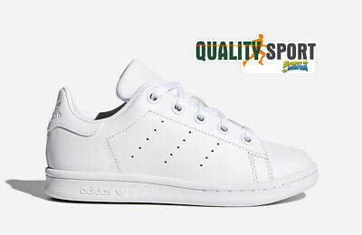 check out a9157 72c50 Adidas Stan Smith C Bianco Scarpe Bambino Junior Shoes Sportive Sneakers  BA8388