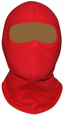 Red Balaclava for Karting, Racing, Cycling, Motorbike, ski, 100% cotton NEW