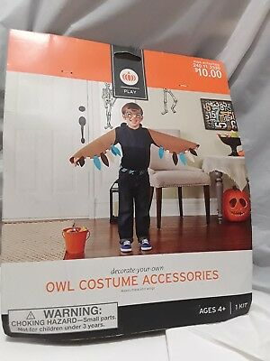 Play Costume Decorate Your Own OWL Costume ACCESSORIES Activity Kit Ages 4+ NEW
