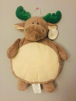 """Kelly Baby Brown Moose Green Antlers Corduroy Mat Accent Size 35""""x23""""x10"""""""