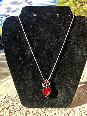 Evie Red Heart Necklace Descendants red pendant New Jewelry Handmade Crown