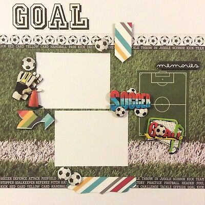 handmade scrapbook page 12 X 12 Soccer Themed Layout