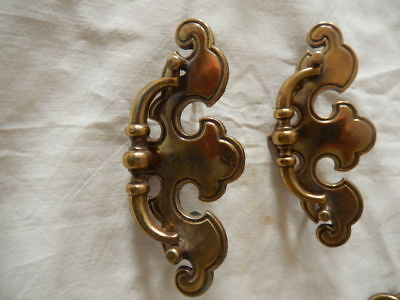 Vintage / Antique Brass Drawer Pulls 2 Pieces LOT 5