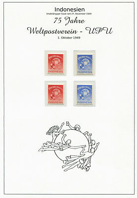 Indonesia 1949 U.P.U. issue collection including many local issues in cpl. sets