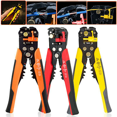 Automatic Plier Cutter Cable Crimping Wire Crimper Tool Self Adjustable Stripper