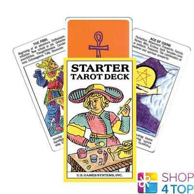 Starter Tarot Cards Deck With Printed Meaning Telling Us Games Systems New