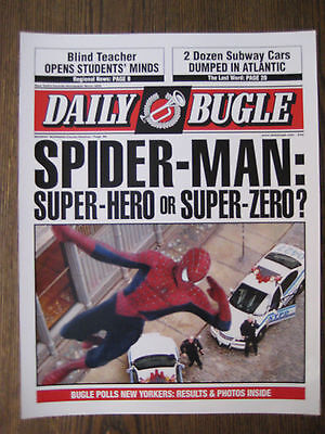 """Spiderman - 8.5"""" x 11'' Daily Bugle Front Page Poster Print - B2G1F"""