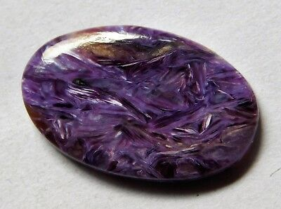 14.10 Cts Natural Charoite Cabochon Loose Gemstone 26X16.3X4 Mm