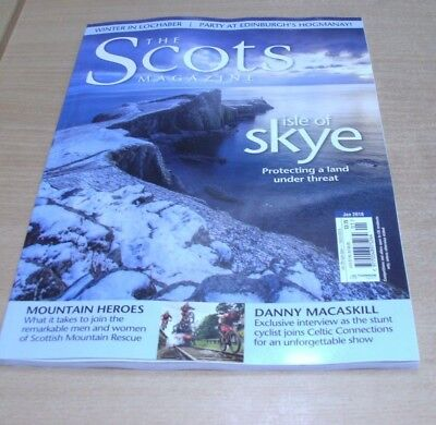 The Scots magazine JAN 2018 Isle of Skye, Danny Macaskill, Mountain Rescue &more