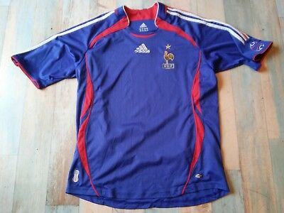 Maillot FOOT ADIDAS EQUIPE DE FRANCE FFF COQ ETOILE TAILLE/16 ans TBE