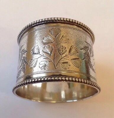 Top Quality Antique Victorian 1872 Solid Silver Napkin Ring By Thomas Smily.