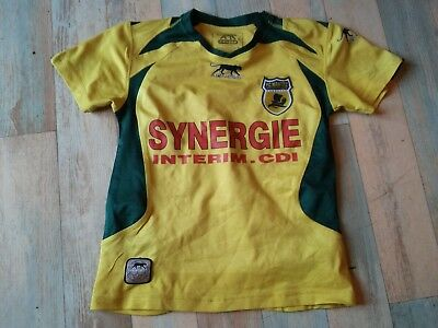 Maillot FOOT AIRNESS FC NANTES SYNERGIE TAILLE/10 ANS TBE
