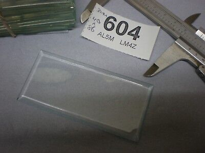 Carriage Clock Glass Bevelled Size 40 x 86 mm New Graded french mantle parts 604