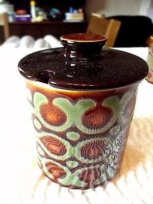 """Hornsea """"bronte"""", Lovely, Small Jam / Preserve Jar With Notched Lid For Spoon."""