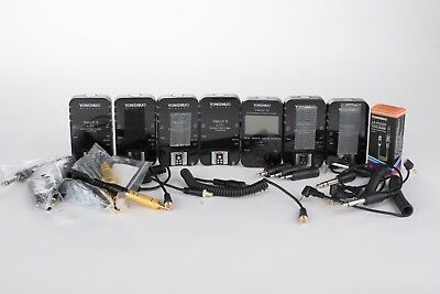 7x Yongnuo YN-622C Wireless ETTL Flash Trigger Receiver Transmitter Canon +Cords