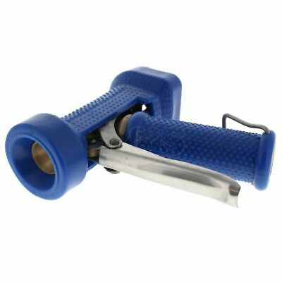 "Heavy Duty Blue Wash Down Gun with Rubber Handle -  1/2"" BSPP Inlet"