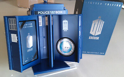 2013 Doctor Who 50th Anniversary 1 oz. Silver Proof Coin in T.A.R.D.I.S