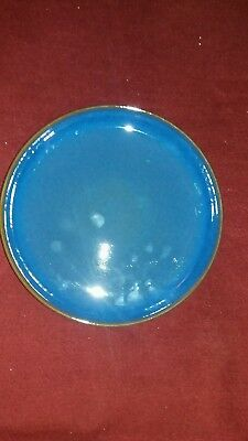 Denby Imperial Blue Coupe Dinner Plates10 Inch/26 Cm New With Back Stamp