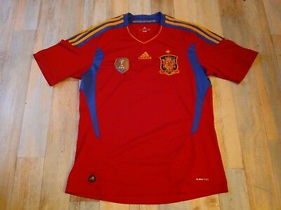 Maillot FOOT ADIDAS EQUIPE ESPAGNE FIFA 2010 TAILLE/L/D6 TBE
