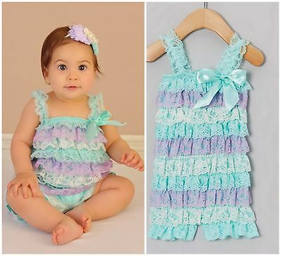 Baby ONE year Birthday  1 st Outfit Cake Smash Photoshoot Romper Jumpsuit  Girl