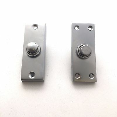Solid Satin Chrome Victorian Door Bell Chime Push Button Press