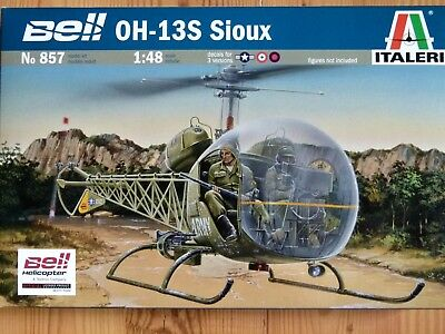 Italeri 1:48 Bell OH-13S Sioux Helicopter Model Kit
