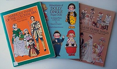 3 Books of Paper Dolls - LETTIE LANE, DOLLY DINGLE and AMERICAN FAMILY SC - D1