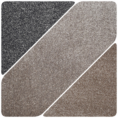 SOFT TOUCH 13mm Thick Beige/Brown/Black/Silver/Grey Saxony Carpet £9.99Sqm