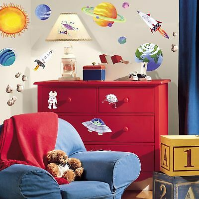 35- RoomMates Outer Space Peel and Stick Wall Decals w/ FAST FREE SHIPPING