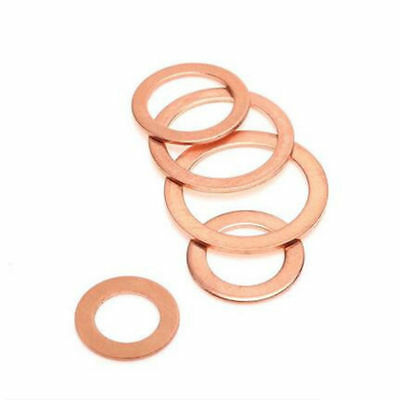 M6/M8/M10/M12/M14 Motorcycle ATV Brake Fuel Banjo Seal Copper Crush Washer