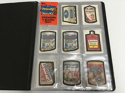 1985 Irish / UK Wacky Packages Wacky Packs COMPLETE Set with VARIATIONS - V Rare