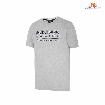 2017 OFFICIAL F1 Red Bull Racing Mens Logo Fan T-shirt Grey – NEW
