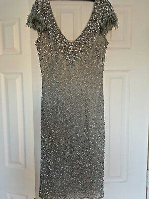 Party Dance Coktail Evening Rhinestone Theia Exclusive Dress Size 2