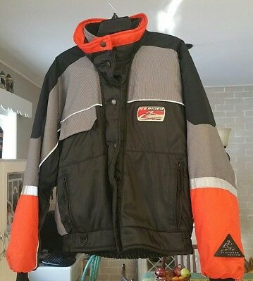 Womens Mustang Ice Rider snowmobile jacket Floating PFD. Size 14 Excellent Warm.