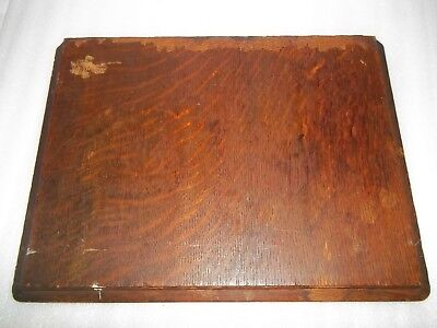 Antique White Brand Treadle Sewing Machine Cabinet Side Table Piece Oak
