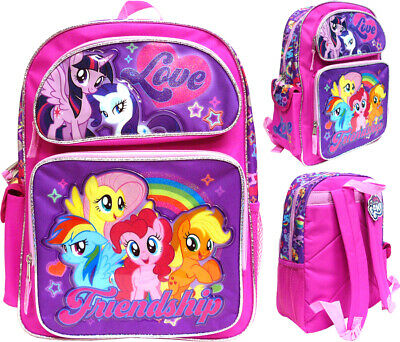 """My Little Pony 16""""  Large School Backpack Girl's Book Bag"""