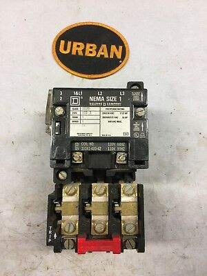 Square D 8536Sc03 8536Sco3 Starter Size 1 120V Coil With B4.15 Heaters & 9999Sx6