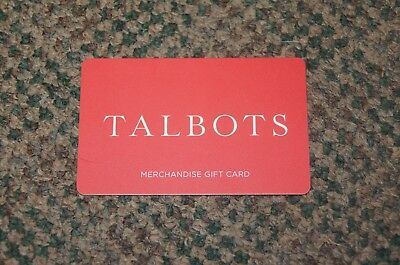 Talbots Gift Card- $194.85 value FAST FREE SHIPPING!