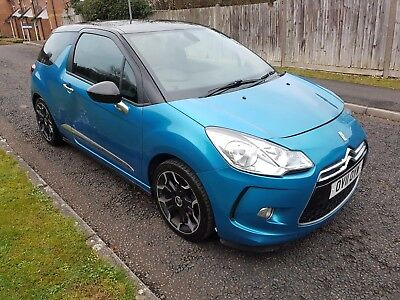 2011 (11) Citroen Ds3 Dstyle 1.6 Hdi Blue 3 Door Salvage Damaged Repairable