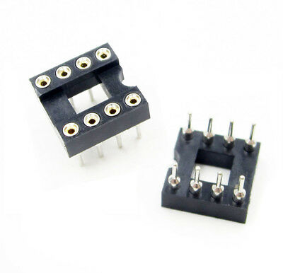 10pcs 8Pin DIP-8 SIP Round IC Sockets Adaptor Solder US