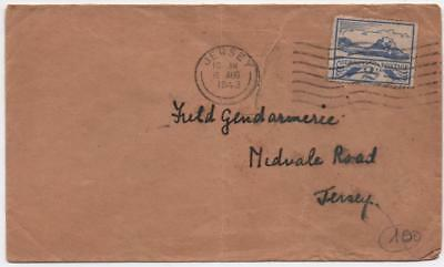 JERSEY: 1943 2½d Example on Cover to Jersey - With Jersey Cancel (12833)