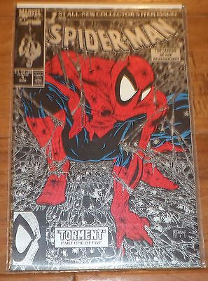 Spider-Man #1 (Aug 1990, Marvel) SILVER TODD McFARLANE COVER