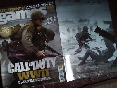 Games TM magazine 192  - Call of Duty World War 2 Fold Out Cover + Mario Odyssey