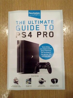PlayStation Official Magazine PS4 Pro Xmas Buyers Guide Booklet